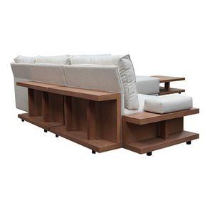 Canapé d'angle en tissu beige - Milano - Visuel n°16