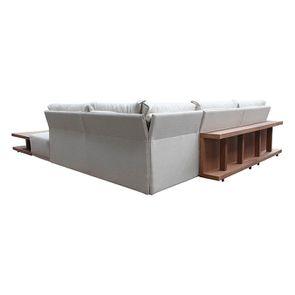 Canapé d'angle en tissu beige - Milano - Visuel n°18