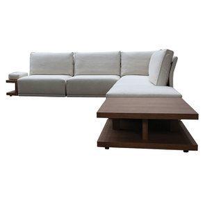 Canapé d'angle en tissu beige - Milano - Visuel n°13