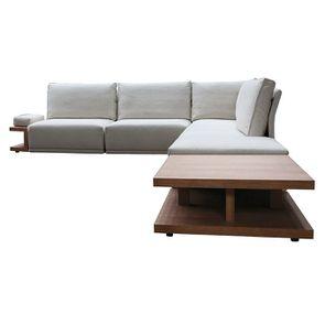 Canapé d'angle en tissu beige - Milano - Visuel n°20