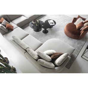 Canapé d'angle en tissu gris clair - Syracuse - Visuel n°3