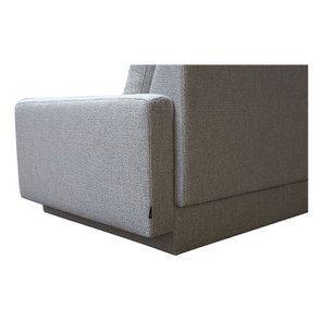 Canapé d'angle en tissu gris clair - Syracuse - Visuel n°12
