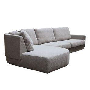Canapé d'angle en tissu gris clair - Syracuse - Visuel n°5