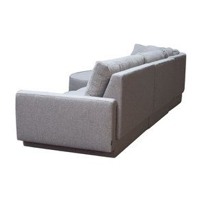 Canapé d'angle en tissu gris clair - Syracuse - Visuel n°8