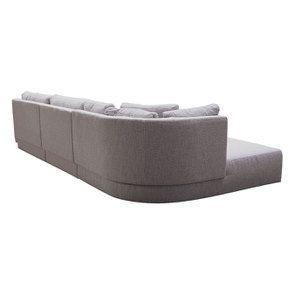 Canapé d'angle en tissu gris clair - Syracuse - Visuel n°10