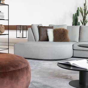 Canapé d'angle en tissu gris - Syracuse - Visuel n°4