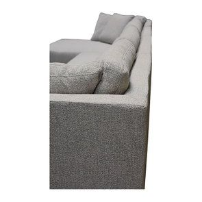 Canapé d'angle en tissu gris - Syracuse - Visuel n°15