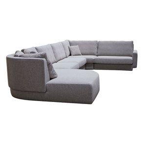 Canapé d'angle en tissu gris - Syracuse - Visuel n°7