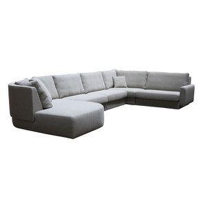 Canapé d'angle en tissu gris - Syracuse - Visuel n°8