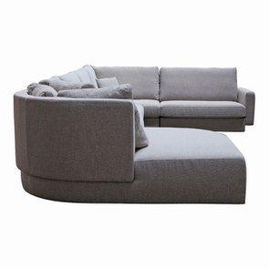 Canapé d'angle en tissu gris - Syracuse - Visuel n°9