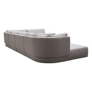 Canapé d'angle en tissu gris - Syracuse - Visuel n°10