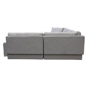 Canapé d'angle en tissu gris - Syracuse - Visuel n°12
