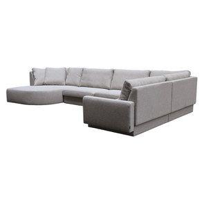 Canapé d'angle en tissu gris - Syracuse - Visuel n°13