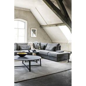 Canapé d'angle 5 places en tissu gris - Baltimore - Visuel n°3