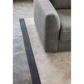 Canapé d'angle 5 places en tissu gris - Baltimore - Visuel n°5