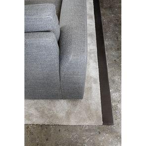 Canapé d'angle 5 places en tissu gris - Baltimore - Visuel n°6
