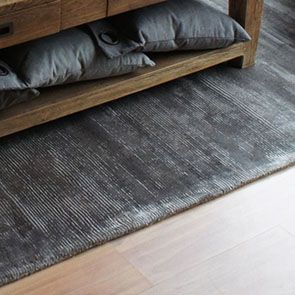 Tapis gris tissé main 170x230 - Harry