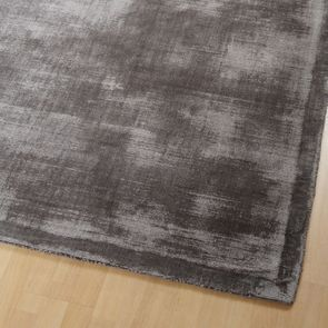 Tapis gris tissé main 170x230 - Clarence