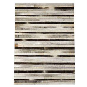 Tapis en cuir patchwork gris 170x230 - Watson - Visuel n°4