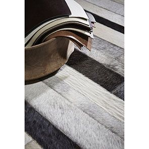 Tapis en cuir patchwork gris 170x230 - Watson - Visuel n°3