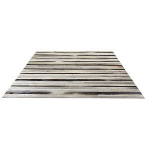 Tapis en cuir patchwork gris 170x230 - Watson