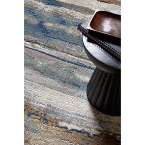 Tapis indigo motif dégradé 200x290 - Ressac - Visuel n°2