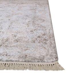 Tapis gris à poils courts 160x230 - Milad