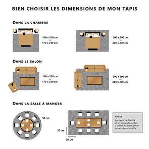 Tapis bleu/doré 160x230cm - Orage - Visuel n°10