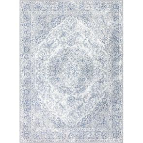Tapis persan bleu gris 200x300cm - Caldeira
