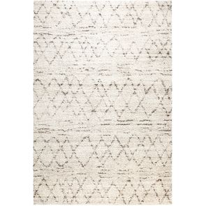Tapis berbère beige 160x230cm -  Flocon - Visuel n°1