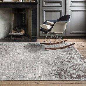 Tapis abstrait gris/blanc 170x240cm - Frimas