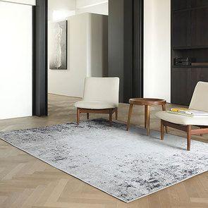 Tapis abstrait gris foncé/blanc 170x240cm - Frimas