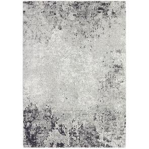 Tapis abstrait gris foncé/blanc 200x300cm - Frimas