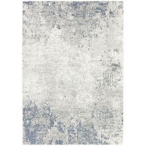 Tapis abstrait bleu/blanc 170x240cm - Frimas
