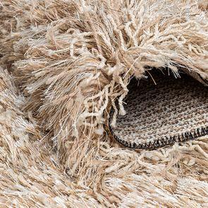 Tapis à poils longs beige foncé 160x230cm - Céleste - Visuel n°4