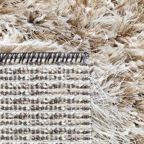 Tapis à poils longs beige foncé 160x230cm - Céleste - Visuel n°9