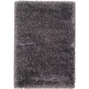 Tapis à poils longs gris brun 200x290cm - Céleste