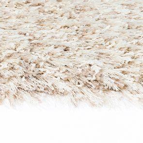 Tapis rond à poils longs beige clair D160cm - Céleste