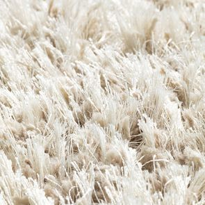 Tapis rond à poils longs beige clair D200cm - Céleste