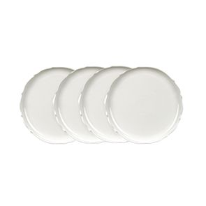Assiettes à dessert blanches en porcelaine (lot de 4)