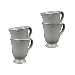 Mugs gris en céramique (lot de 4)
