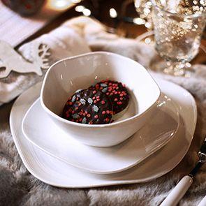 Assiettes plates en porcelaine (lot de 4) - Visuel n°3