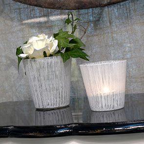 Photophores en verre transparent (lot de 4)