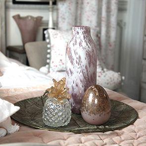 Vase en verre soufflé à la bouche rose - Visuel n°2