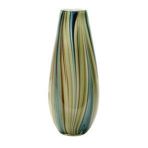 Vase en verre soufflé à la bouche vert - Visuel n°1