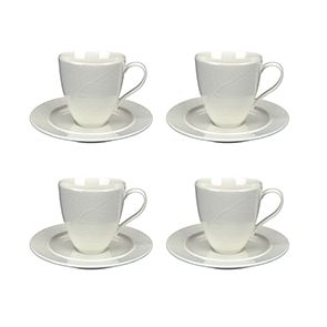 Tasses à café en porcelaine (lot de 4)