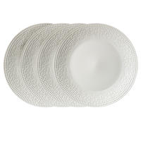 Assiettes plates en porcelaine motifs mosaïques (lot de 4)