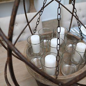 Photophore en bois, verre et métal - Visuel n°4