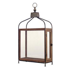 Lanterne en bois et métal - Visuel n°1