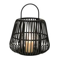 Lanterne en bambou et métal noir